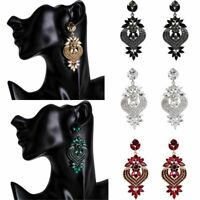 Fashion Full Crystal RhinestoneStud Dangle Chandelier Earrings Wedding Jewelry