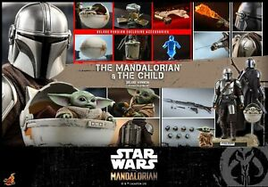 Hot Toys 1/6 scale Mandalorian and The Child (Deluxe Version) Set Figure TMS015