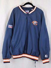 Chicago Bears NFL Starter Jacket Pro Line Mens Pullover  Medium Embroidered EUC