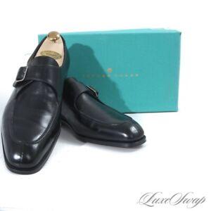 NIB #1 MENSWEAR Edward Green England $1595 Ashby Black Monkstrap Shoes 10 10.5