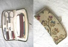 Vintage 1950-60s Purse ladies Grooming Set: Comb,Mirror,Scissors,Nail File,Etc.