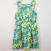 [ J.CREW ] Womens Silk Print Allie Dress in Aqua Floral   Size AU 10 or US 6