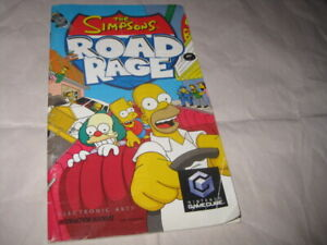 GameCube THE SIMPSONS ROAD RAGE Manual ONLY