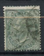 ITALIA 1863-65 SG # 10, 5c Grigio Usato #D 8737