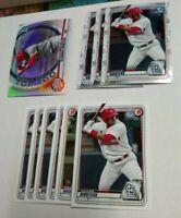 10 2020 Bowman ELEHURIS MONTERO Chrome Paper card lot ST. LOUIS CARDINALS #BP-32