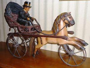 Attelage avec cocher et cheval
