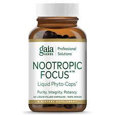 Gaia Herbs/Professional Solutions Nootropic Focus 40 Caps