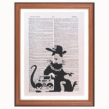 Banksy Rap Rat Dictionary Page Art Print Gift Collector