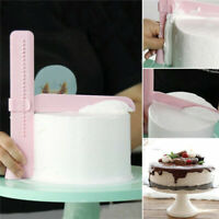 2Pcs Adjustable Height Cake Smoother Polisher Cutter Fondant Sugarcraft Icing