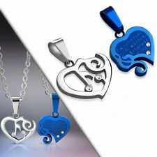 Pendant Couple Music Blue/Silver