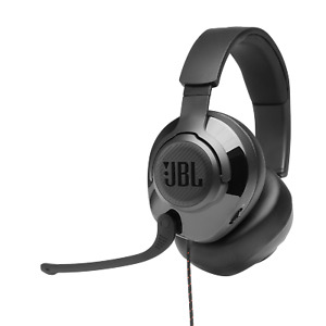 JBL Quantum 200 Wired Over-ear Gaming Headphones with Flip-up Mic, Black