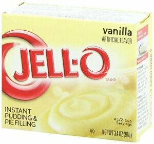 Jello Instant Vanilla Dessert Pudding and Pie 90 g (Pack of 4)