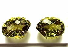 85.85 Ct Natural Lemon Quartz Loose Gemstone Fancy lesser Hand Carving Lot S739