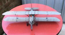 Meccano Aero Constructor Bi- Plane. Silver/ Red.