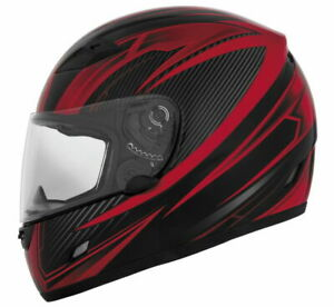 Cyber US-39 Street Pro Full Face Motorcycle Helmet Red Adult XS