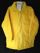 BNWT Boys or Girls Sz 3 LWR Brand Waterproof Polar Fleece Lined Yellow Rain Coat
