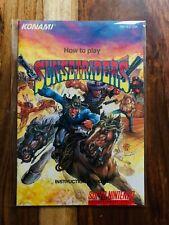 Sunset Riders Super Nintendo SNES Manual Instruction Booklet Near Mint