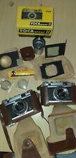 lot 2 appareil photo foca sport II + accessoires ( lentille, zoom,loupe,...)