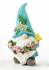 Fairy Garden Large Gnome w/ Blue Hat, Butterfly & Flowers - Buy 3 Save $5