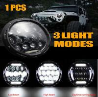 "7"" inch LED Headlight Halo Angel Eye DRL Light For Land Rover Defender + Adapter"