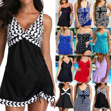 Women High Waist Monokini Tummy Control Swim Dress Swimwear Beachwears Plus Size