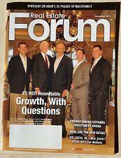 James Collins James Sullivan Howard Roth Adam Markman Real Estate Forum Nov 2014