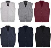New Men Knitted Waistcoat Plus Sizes 3XL to 6XL Kniited Sleeveless Cardigan