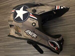 O'Neal Wingman Downhill Enduro Freeride Full Face Visor Bike MTB Helmet Size S