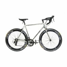 NEW 55cm Silver Chrome Corsa R14D 14-Speed Road Bike Bicycle with Deep Dish Rims