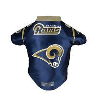 Los Angeles Rams NFL LEP Licensed Dog Pet Premium Blue Jersey Sizes XS-L