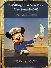 Disney Cruise Line New York City May-Sept 2012 24x36 Travel Agent Poster 6077