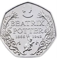 2016 50P COIN BEATRIX POTTER 150 YRS RARE FIFTY PENCE BRILLIANTLY UNCIRCULATED *