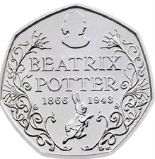 2016 50P COIN BEATRIX POTTER 150 YRS RARE FIFTY PENCE BRILLIANTLY UNCIRCULATED &