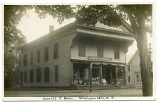 RPPC NY Washington Mills Post Office JT Davis Store Lawn Mowers Graniteware Etc