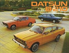1976 Datsun B-210 Brochure / Catalog with Specifications: Sedan, Hatchback, B210