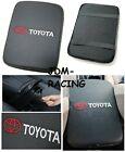 Carbon Fiber Car Center Console Armrest Cushion Mat Pad Cover Stitch For Toyota