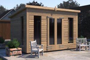 10x8 'Don Morris' Wooden Garden Shed/Summerhouse/Studio Heavy Duty Tanalised