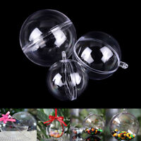 Bath bomb molds, christmas ball ornaments 3 Size with 15 set clear plastic UK