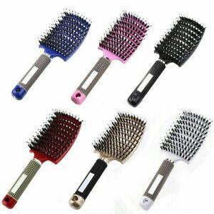 Hairbrush Women Detangler Hair Brush Bristle Nylon Scalp Massage Hair Brush Comb