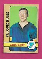 1972-73 OPC # 16 BLUES ANDRE THE MOOSE DUPONT  ROOKIE VG+ CARD (INV# A9610)