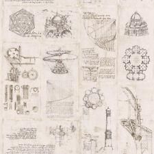Smita Tapete Leonardo 23031 Architettura Tecnica Vinile Carta Parati Non Tessuta