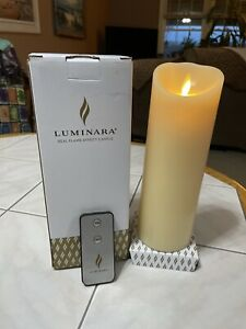 "Luminara Remote Control 8"" Real Flame Effect Candle"
