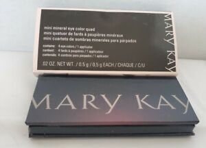 Mary Kay Mini Mineral Eye Color Quad-Honey Spice/Sienna/Blue Metal/Vintage Gold