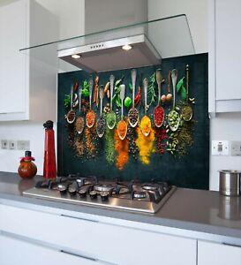 Printed Kitchen Glass Splashback - Toughened & Heat Resistant Cooker Panel 1118