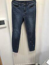 Comma Skinny Fit Jeans Gr. 42, Blau mit Steinchen, Top