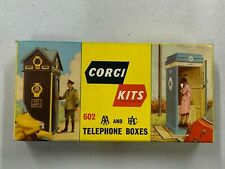 Corgi ref 602 A.A. & R.A.C. Telephone Box Kits Box + AA Box built and decals