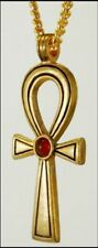 Egyptian Ankh Pendant with Carnelian Cabochon Center - Museum Store Collection