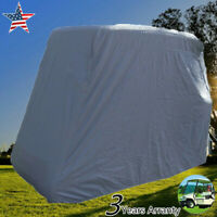 Waterproof 4 Passengers Golf Cart Cover Zipped Storage for Yamaha,EZ Go Club Car
