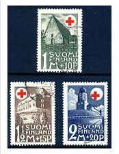 Finland B5-7 Red Cross, Church, Castles - Used