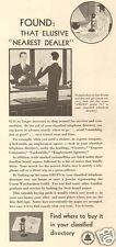 1930 vintage GRUEN Art Deco Watch JEWELRY STORE Jeweler Dealer Telephone Book AD
